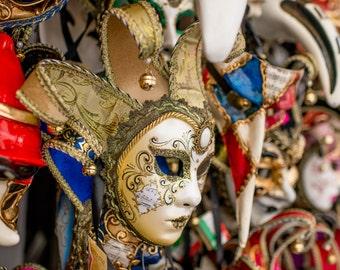 Venetian Mask, Venice, Italy Photography, Fine Art Print Italy, Italy Print, Italy Photo, Venice Print, Venice Wall Art, Masquerade