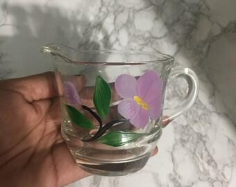 Clear, flower mug