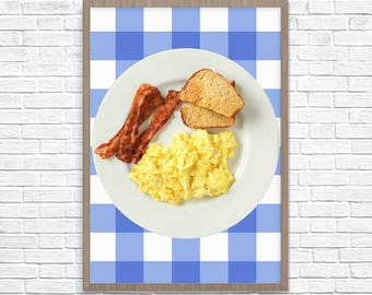 Ron Swanson Breakfast Poster, Ron Swanson Poster, Swanson Breakfast Print, Wall Art, Poster Print