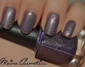 Lagniappe - Purple and Gold Glitter Nail Polish