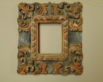 17th Century Polychrome Continental Frame