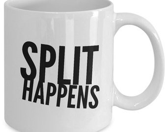 Bowling Gift Coffee Mug - Split Happens - Unique Bowling gift mug
