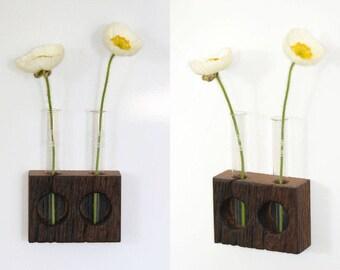 Refrigerator vase, magnetic vase, 2, Oak