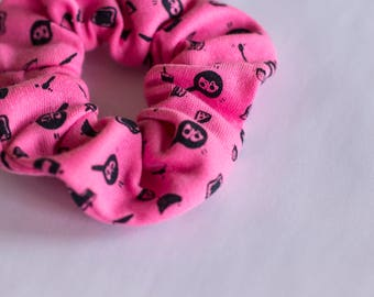 Elastic, scrunchies, fabrics, patterns, eggs, pink, hair accessory