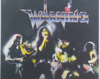 Warning S/T French Hardrock Lp French Press 1981 Polydor