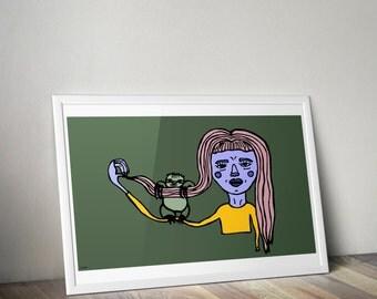 Sloth Friends Forever Illustration