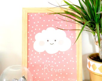 "Powder Pink cloud ""dream"" poster"