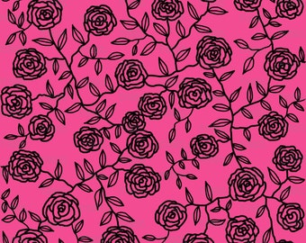 Climbing Roses Fabric by Maryartdecor