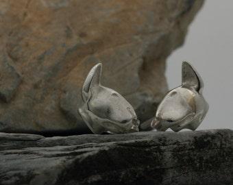 Vakkancs Bullterrier earrings (solid sterling silver)