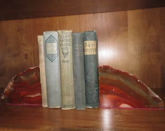 Red Sarape Jasper bookends