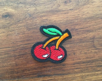 Cherries on a stalk - Iron on Appliqué Patch