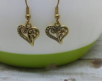 Pendants earrings heart