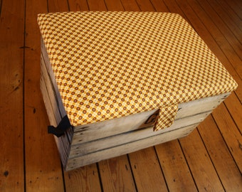 Fruit crate Ochre yellow storage chest