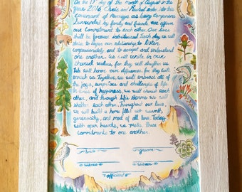 "Custom Ketubah (11"" x 17"") (Marriage Contract)"