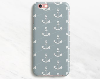 Anchor iPhone 6 Plus Case Blue iPhone 7 Case Nautical iPhone 6 Plus Case iPhone 6 Case Sea iPhone 7 Case Anchor Pattern Case Samsung Galaxy