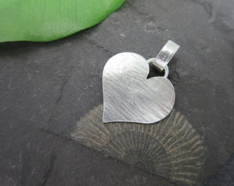 Heart pendant Sterling Silver Pendant silver