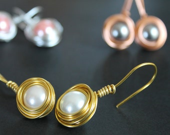 Drop Nest Earrings with variations