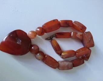 Carnelian Stone Necklace African Carnelian Beads, African Beads, Ethnic Beads