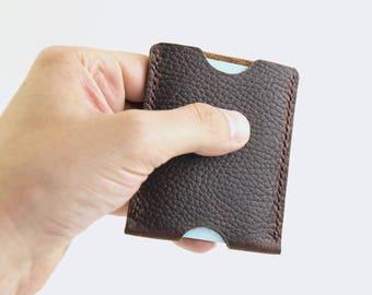 Minimalist Wallet Leather, Slim Leather Card Holder, Thin Wallet Leather Slim Wallet, Front Pocket Wallet, Card Holder Wallet