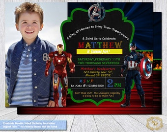 Avengers Invitation.Avengers Party Theme.Avengers Birthday Invitations.Avengers Photo Invitation.Avengers Party.Avengers.Party Supplies.Boys