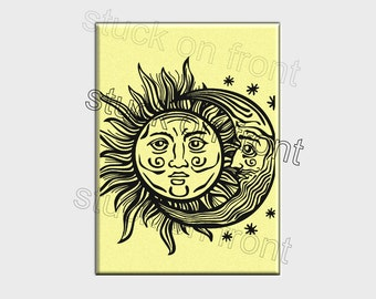 Sun and moon refrigerator magnet