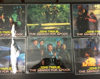 Star Trek III: The Search For Spock [1984] - 6 Lobby Cards - Shatner - Nimoy