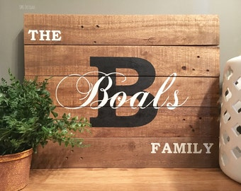 Custom Family Sign//Last Name