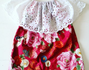 The 'Angel dress' in red floral