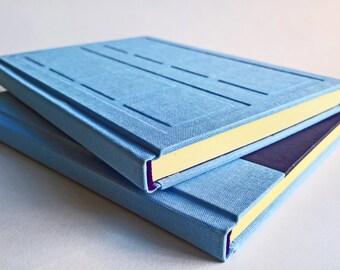 Blue/Purple Door Notebook Set Relief and Paper Cover