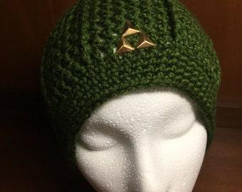 Legend of Zelda Inspired Triforce Hat - Link Hat - Green Beanie