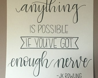 JK Rowling Hand-Painted Lettering