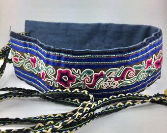 "Clearance!Embroidered Women's Belt,Vegetable Dye,Tibetan Art,Tibetan Embroidery,2.2""X42"""
