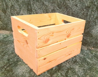 "Large Wood Crate 13""x 10""x 9"""