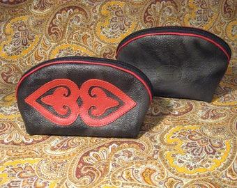Women's purse genuine leather, cosmetics bag, handmade