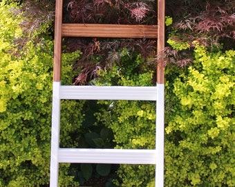 Blanket Ladder // Towel Rack // Hand-Made // Farm House // Two-Tone // Solid Wood // Furniture // Custom // Farmhouse