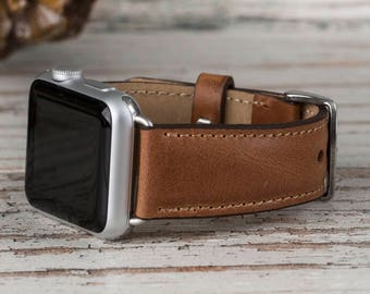 Leather Apple Watch band, 42mm, 38mm, Leather watch band, Apple watch strap, iwatch band, Apple watch leather band, tan iwatch strap