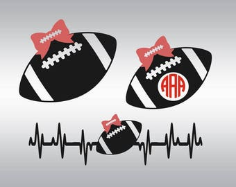 Football svg, Football mom svg, Football svgs, Football sister, Heartbeat svg, Cricut, Cameo, Cut file, Clipart, Svg, DXF, Png, Pdf, Eps