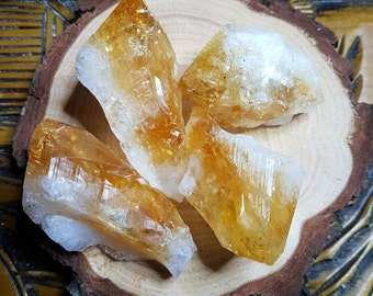 Rough Citrine Points