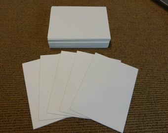White Mat Board Blanks Size 5x7 - 4 ply ACID FREE Conservation Board - Quantity 25