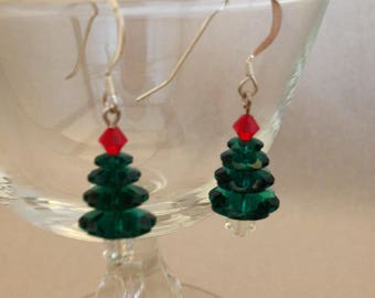 Vintage Crystal Tree Earrings