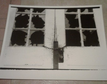 Black and white darkroom print 8 by 10 inches