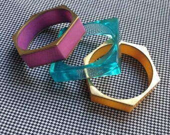 3 vintage stacked bangles