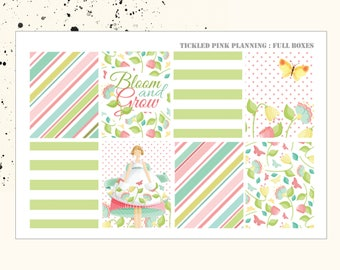 BLOOM AND GROW | Full Boxes | Planner Stickers | Erin Condren Vertical