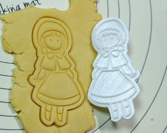 Girl Wearing a Cloak Cookie Cutter and Stamp