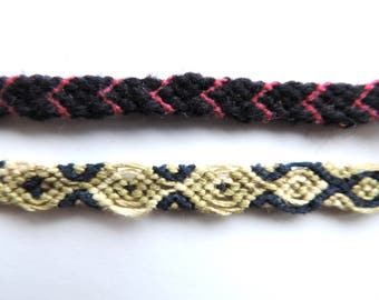 Set of two friendship bracelets, wish bracelet, colorful threads, handmade braided bracelets, friend gift, from Transylvania, Romania