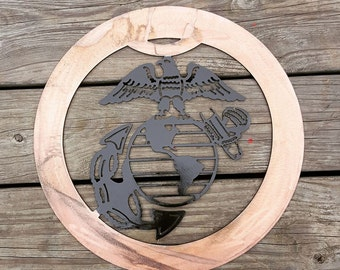 Marines metal wall decor