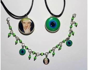 Jacksepticeye  Double Sided Necklace & Charm Bracelet
