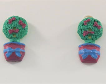 Topiary Tree Stud Earrings