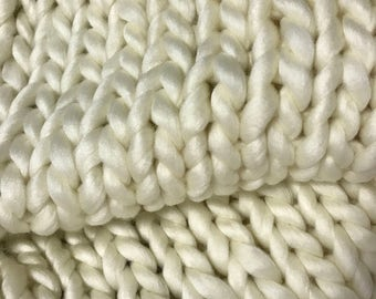 Chunky Knit Throw / Chunky Knit Blanket