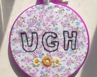 UGH flower modern hand embroidery